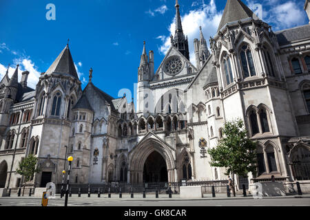 Royal Courts of Justice on Strand, London, UK - Stock Photo