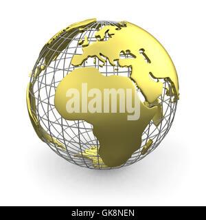 globe planet earth - Stock Photo
