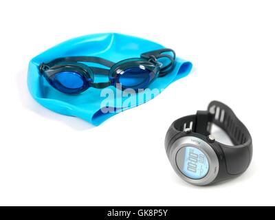 blue objects sport - Stock Photo