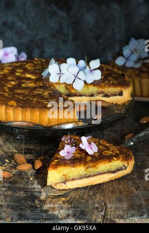 Bakewell tart - Stock Photo