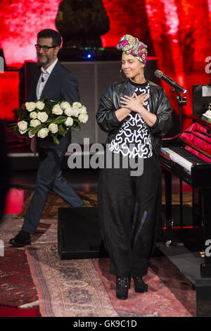 Alicia Keys appears on Italian TV show 'Che tempo che fa'  Where: Milan, Italy When: 23 May 2016 Credit: IPA/WENN.com - Stock Photo