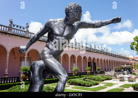 Sarasota Florida Ringling Estate Ca' d'Zan mansion John and Mable Ringling Museum of Art art museum exterior Renaissance - Stock Photo