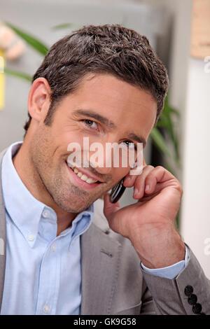 telephone phone talk - Stock Photo