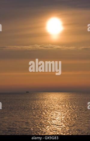moody days beginning on the baltic sea - Stock Photo