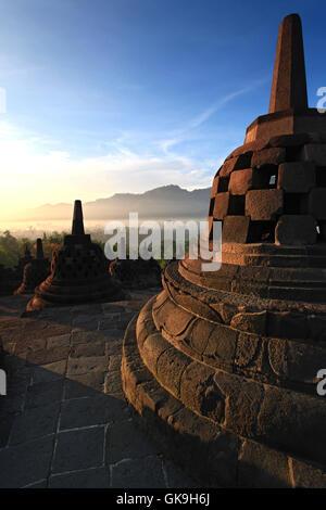 temple indonesia buddha - Stock Photo