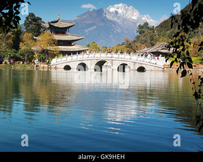 jade dragon snow mountain,lijiang - Stock Photo