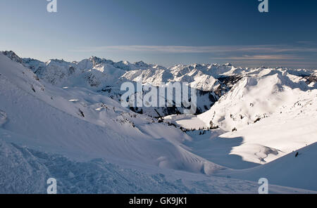 the seealpsee and mountains - Stock Photo