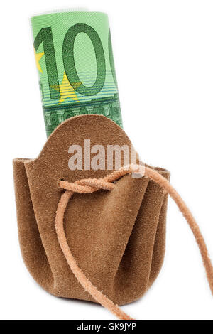 wallet with hundred euro note - Stock Photo