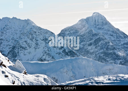 tatra mountains in winter,winter landscape in the mountains - Stock Photo
