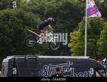 Stunt Monkeys display team at Southport Flower Show, Merseyside, UK - Stock Photo