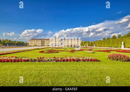 Garden in the Schonbrunn Palace complex. - Stock Photo