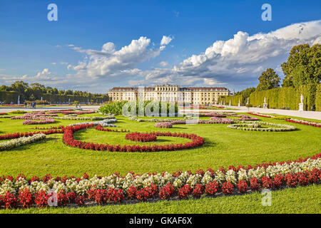 Garden in the Schonbrunn Palace complex. - Stock Photo