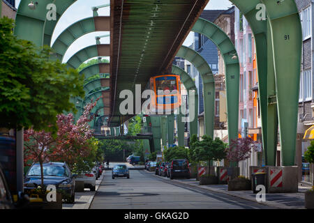 wuppertal suspension railway - Stock Photo