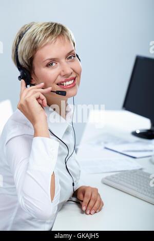 woman telephone phone - Stock Photo