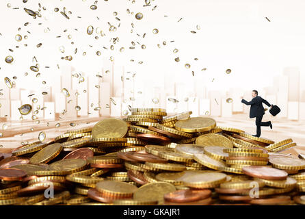 euro business man businessman - Stock Photo