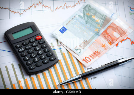 currency euro business dealings - Stock Photo