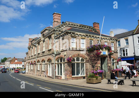 Town Hall Buildings, High Street, Northallerton, North Yorkshire, England, UK - Stock Photo