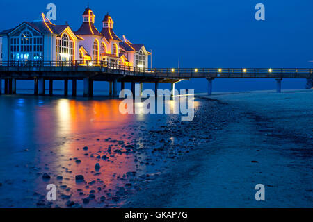 the pier of sellin - Stock Photo