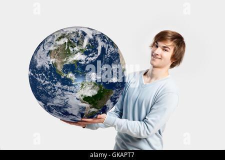 handsome globe planet - Stock Photo