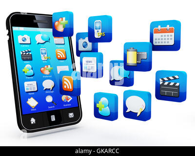 networking mobile cellular - Stock Photo
