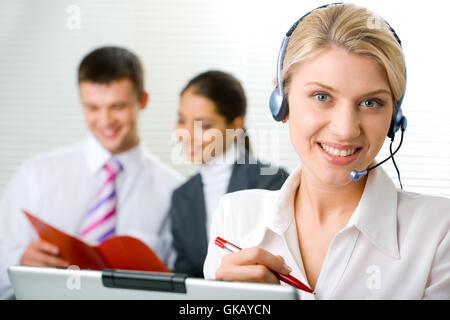 woman conversation telephone - Stock Photo