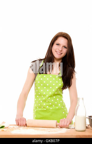 happy young woman at the bake - Stock Photo