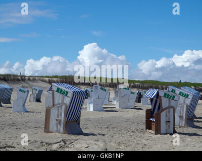on the beach of norderney - Stock Photo