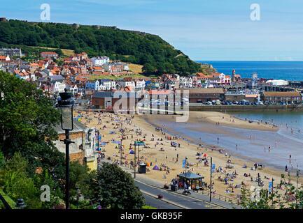 Beach, South Bay, Scarborough, North Yorkshire, England UK - Stock Photo