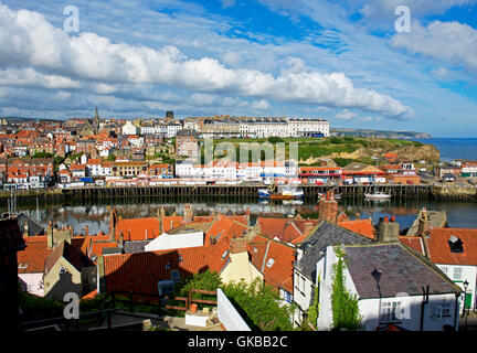 The harbour, Whitby, North Yorkshire, England UK - Stock Photo
