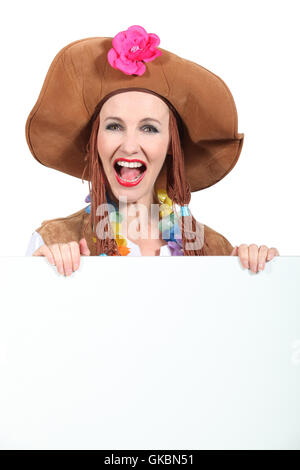 woman female peace - Stock Photo
