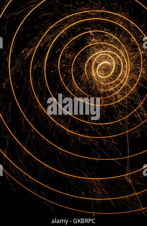 spark spiral background - Stock Photo