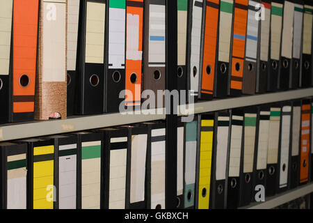different file folders - Stock Photo