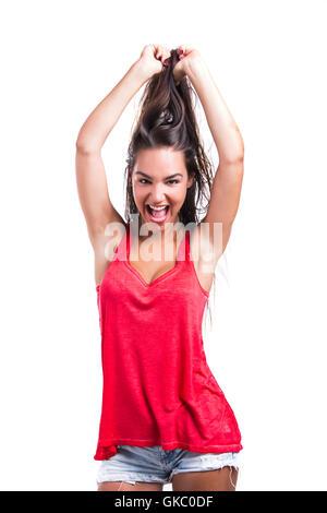 woman beautiful beauteously - Stock Photo