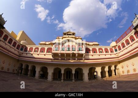 Chandra Mahal or Chandra Niwas, City Palace, Jaipur, Rajasthan, India, Asia - Stock Photo