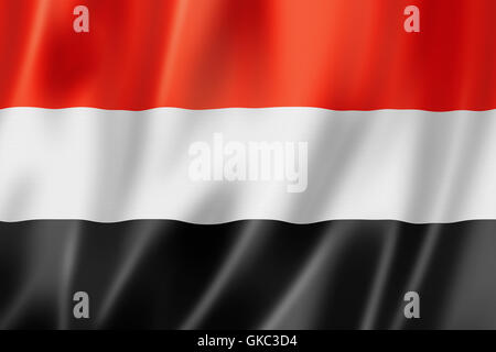 flag textile yemen - Stock Photo