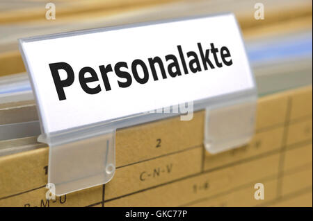 personnel file - Stock Photo
