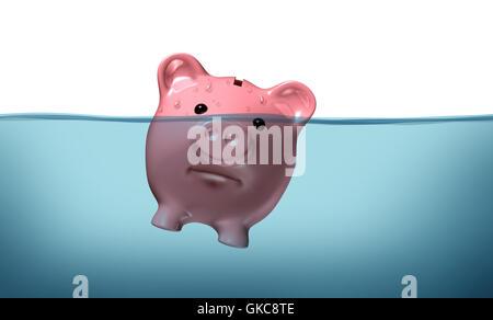 bank lending institution danger - Stock Photo