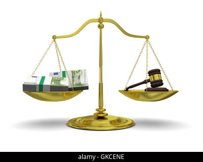 bribery corruption extortion - Stock Photo