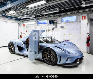 A Regera Car Ready To Be Tested Koenigsegg Supercar Factory Stock