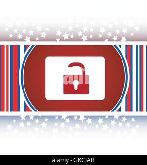 open padlock icon web sign isolated on white vector - Stock Photo
