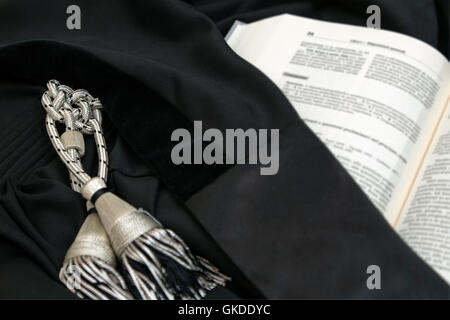 law robe jury - Stock Photo