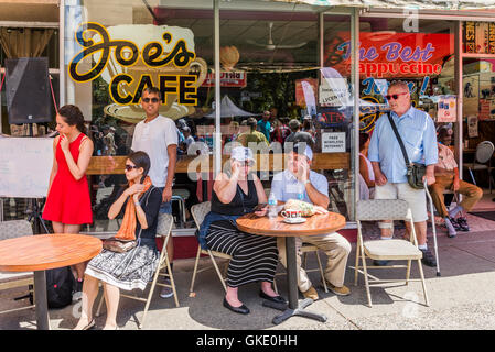 Joe's Cafe, Italian Day, Commercial Drive, Vancouver, British Columbia, Canada - Stock Photo