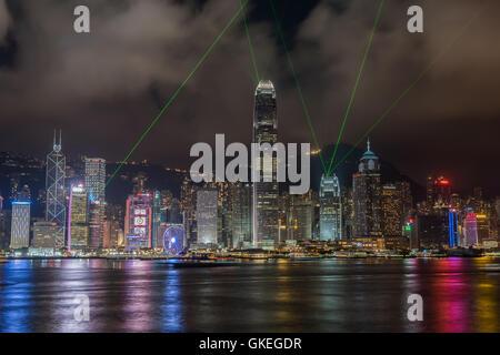 Hong Kong Night Scenic - Stock Photo