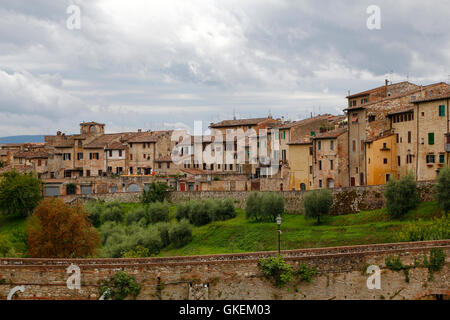 Colle di val d'Elsa, a beautiful medieval village in the Tuscany, Italy - Stock Photo