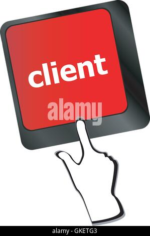 Customers Service Concept. Button on Modern Computer Keyboard with Word Clients on It vector - Stock Photo