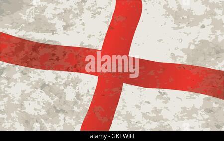 Flag of England and Saint George Grunge - Stock Photo