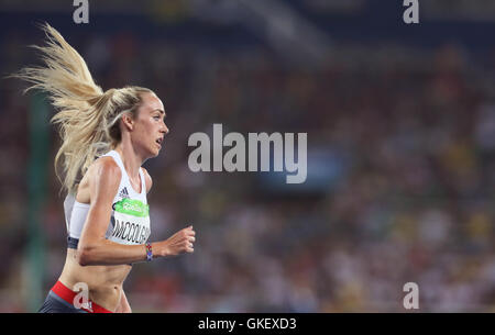 Great Britain's Eilish McColgan during the Women's 5000m Final at Olympic Stadium on the fourteenth day of the Rio - Stock Photo