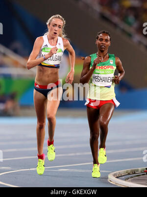 Great Britain's Eilish McColgan in action in the Women's 5000m final at Olympic Stadium on the fourteenth day of - Stock Photo