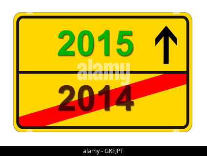 year 2014/2015 - Stock Photo