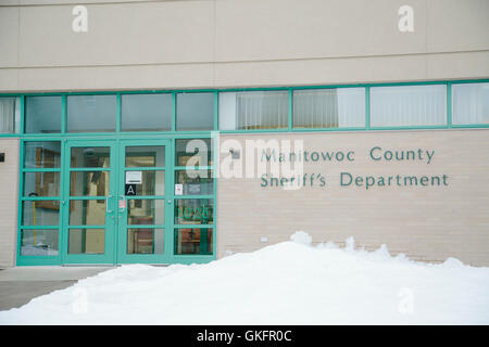 The Manitowoc County Sheriff's Department exterior and signage, from the Making a Murderer documentary. - Stock Photo